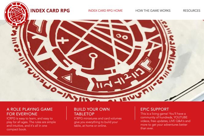 New Index Card RPG website - Rigaroga's Odd Order