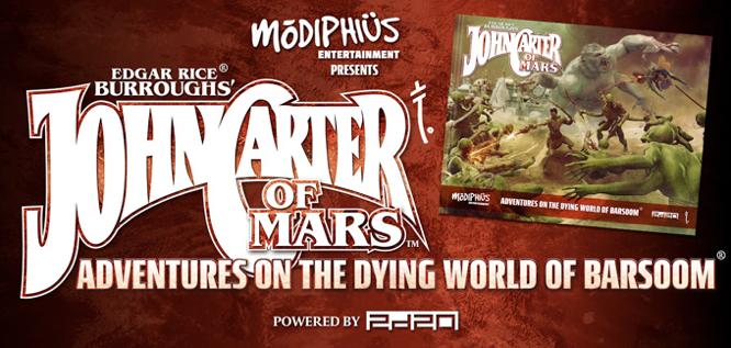 Modiphius John Carter of Mars kickstarter