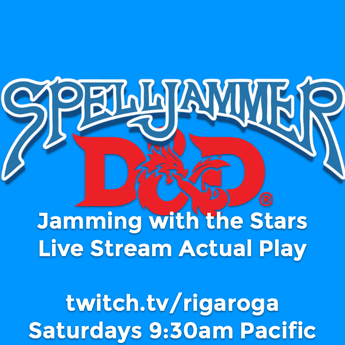 Dungeons and Dragons 5e Spelljammer Jamming with the stars live stream actual play