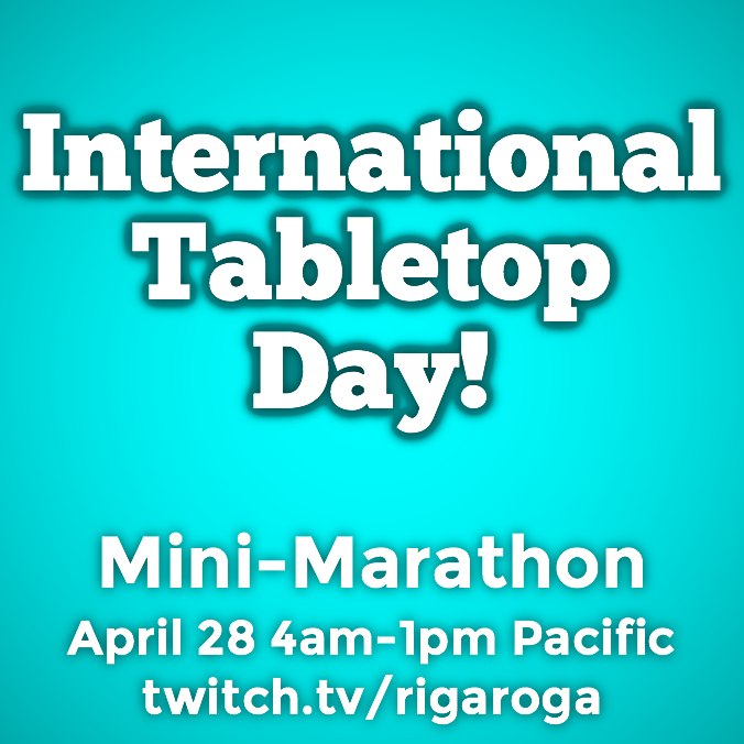 Rigaroga Twitch International Tabletop Day 2018