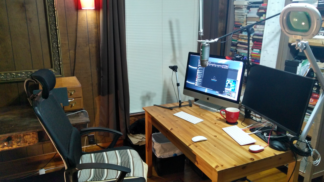 Rigaroga streamer desk Sept 2021